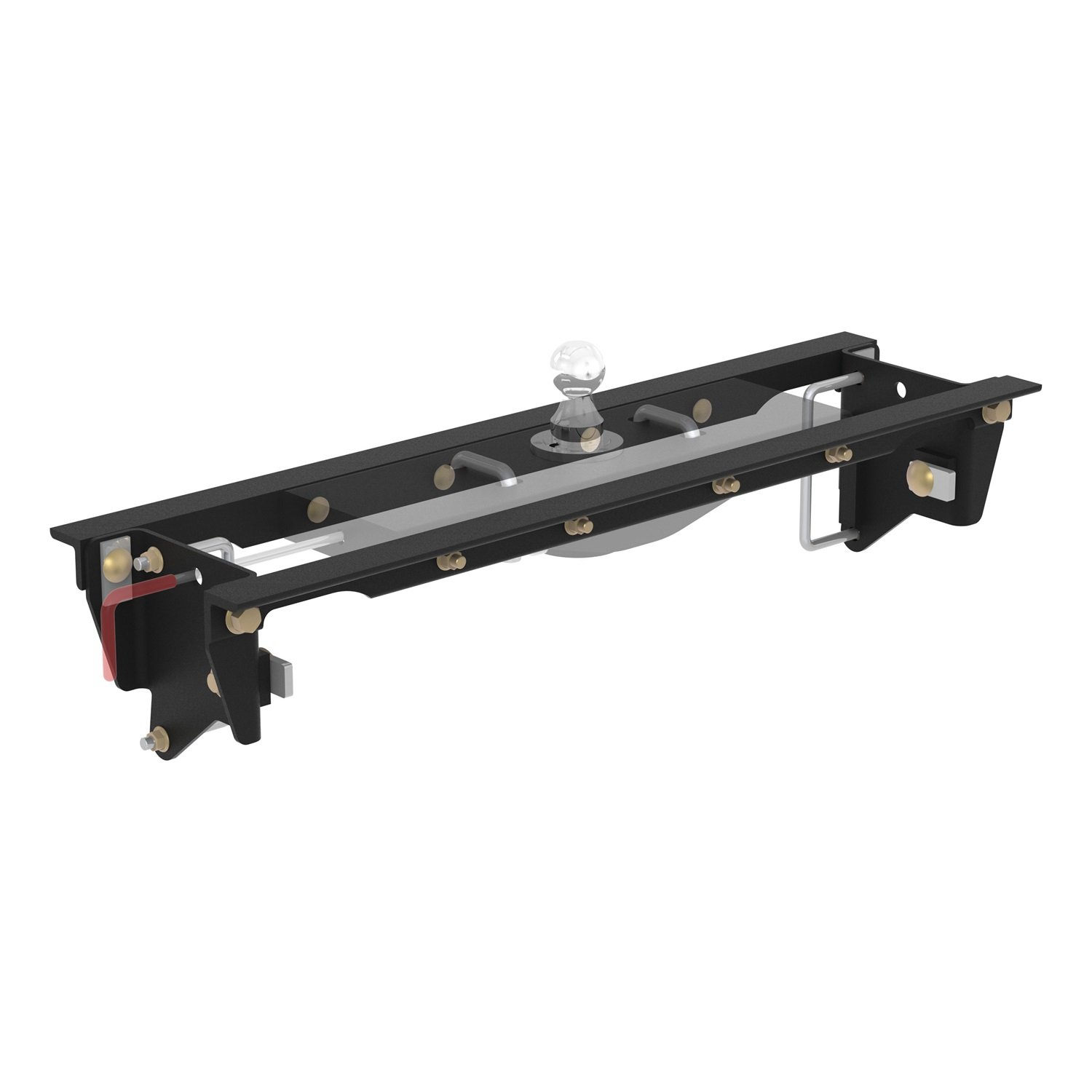 CURT 60647 Double Lock EZr Gooseneck Hitch Installation Brackets for Select Ford F-250, F-350 Super Duty