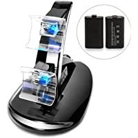 Megadream Dual USB Charging Charger Docking Station Stand with 2 Battery