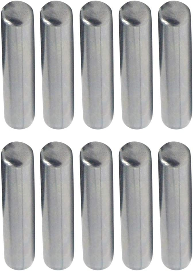 Silver 35mm yotijar 10pc Carbon Steel Dowel Pins 0.2inch Dia Pin Tension