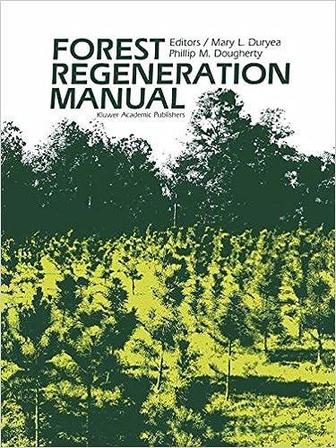 Read Forest Regeneration Manual (Forestry Sciences) PDF, azw (Kindle), ePub