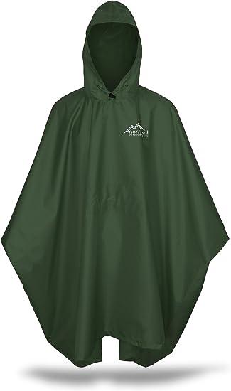 Regenjacke f/ür Damen und Herren normani Outdoor Sports Regenponcho mit Kapuze 6000 mm Wassers/äule