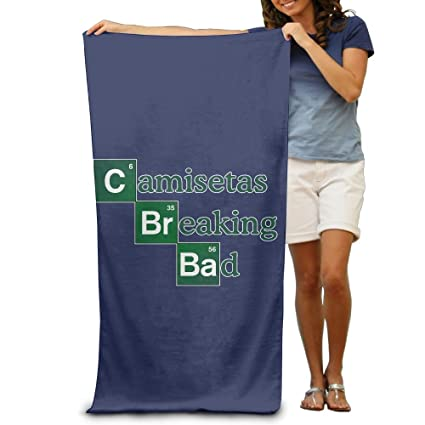 Ongyeyuan Camisetas Breaking Bad Unisex Personalized Highly Absorbent Bath Towel Soft Beach Towel