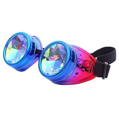 Amazon.com: Gafas de sol Kaleido scope Colorful Rave ...