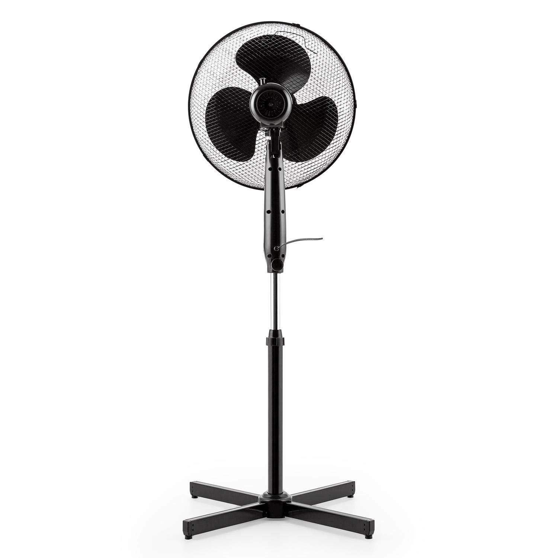 /• Schwenkfunktion zu 16 und abschaltbar /• Ventilatorkopf um 20/° neigbar /• wei/ß Klarstein Black Blizzard Standventilator /• 50 Watt /• 3 Geschwindigkeitsstufen /• 40,6cm