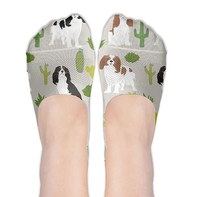Womens Charles Spaniel Dog Low Cut Socks Ankle Length Socks Cool Special No  Show Socks For 1c701c37e