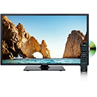 AXESS TVD1805-19 19-Inch 1080p LED HD TV | VGA/HDMI Inputs, Built-in DVD Player, Full Function Remote