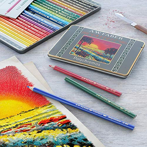 Faber-Castell Polychromos 111th Anniversary Limited Edition Wood Colored Pencil Tin - 36 Colors by Faber-Castell (Image #5)