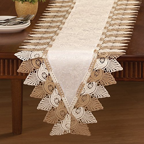 Scalloped Linens Runner Machine Washable