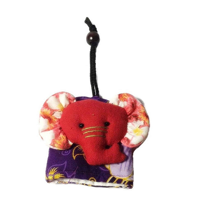 Keychain Elephants Thai Fabric Animal Handmade Keyring Souvenir Multi-Color New