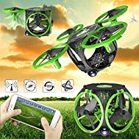 Cewaal FQ26 Mini Foldable WiFi FPV Drone with Wide Angle Camera Live Video,Altitude Hold Hover Drone RC Quadcopter For Kids