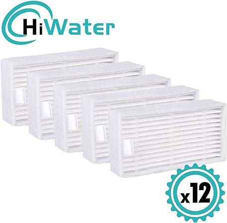 HiWater HEPA® Filtro Compatible Ilife Modelo V3s V3s Pro, V5 y V5s V5s Pro Robotic Aspiradora, 12 Paquetes: Amazon.es: Hogar