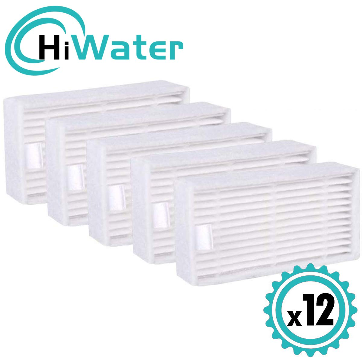 HiWater Replacement HEPA Filter Compatible with ILIFE Model V3 V3s pro V5 V5s Pro Robotic Vacuum Cleaner 12 Packs