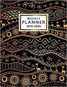 Amazon.com: 2019-2020 Weekly Planner: Cute Black & Gold ...