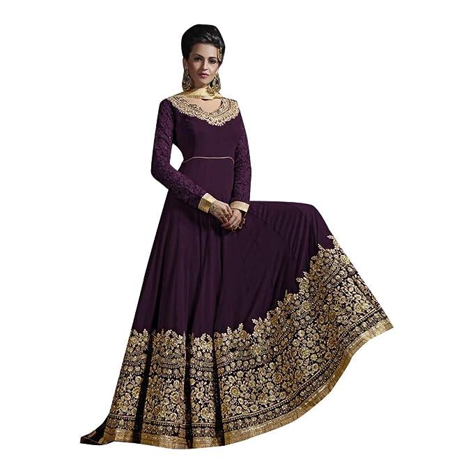Amazon.com: Anarkali Salwar Kameez - Traje para mujer (talla ...