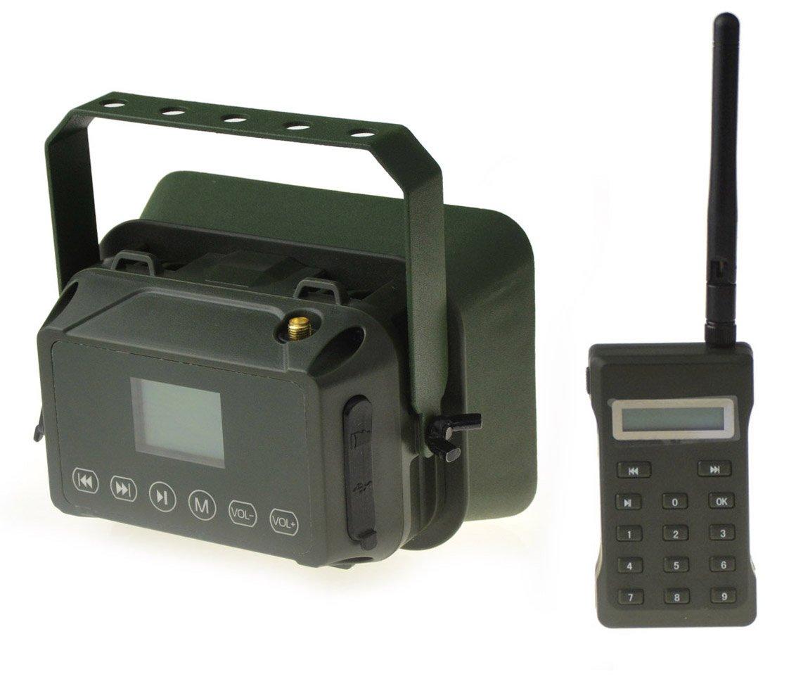 Outdoor Hunting MP3 Player Bird Decoy Caller 60W 160dB Loud Speaker Waterproof + 500M Remote