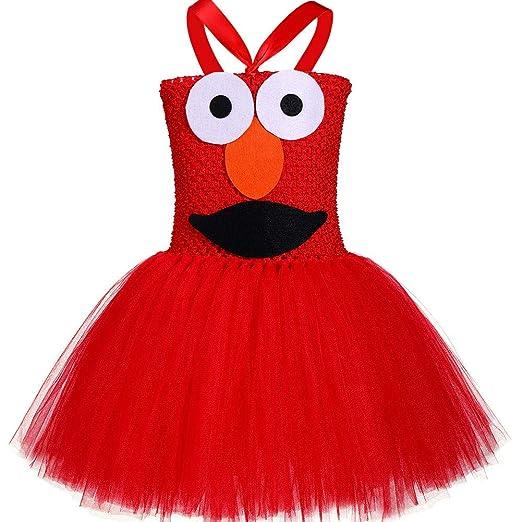 QYS Tutu Dreams Disfraz de Monstruo Rojo para niñas de 1 a 12 años ...