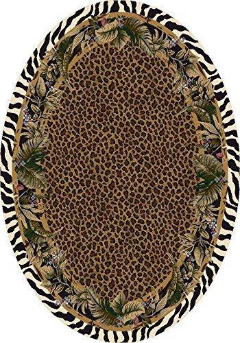 Milliken 4000022864 Signature Collection Jungle Safari Oval Area Rug, 3'10