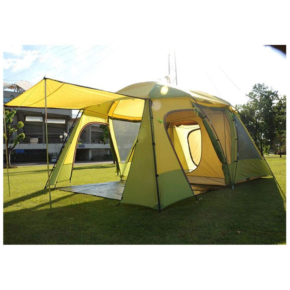 Zelte, 5-8 Personen 2 Schlafzimmer 1 Living Room Awning Sun Shelter Party Family Hiking Beach Fishing Outdoor Waterproof Zelt