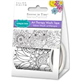 Living In Color Paper Craft Washi Tape 2in x 3m Washi Tape Art Therapy, Unique Adult Coloring Masking Tape, Secret Garden