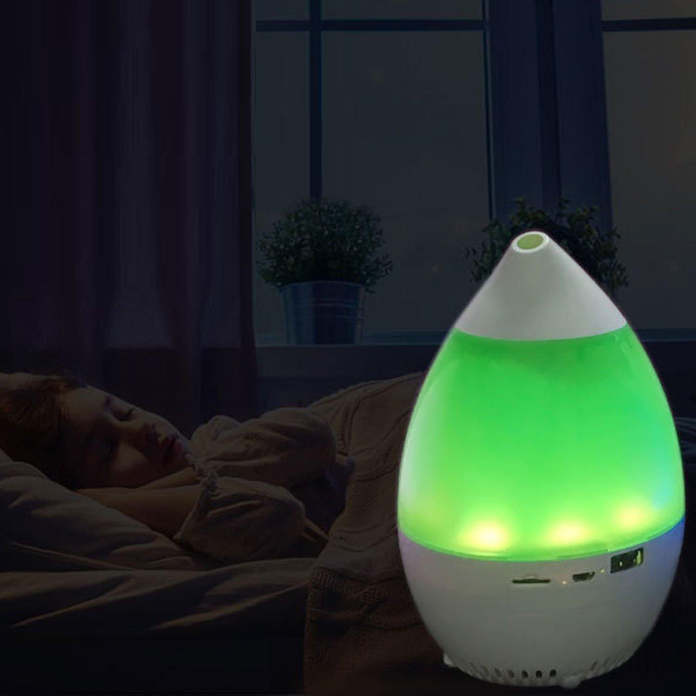 Gosear Multi-funzionale Aroma Diffusore Umidificatore Bluetooth Musica Giocatore Essenziale Olio Luce con Senza mano Chiamare Tempi Funzione per Casa Da Ufficio Auto Blu