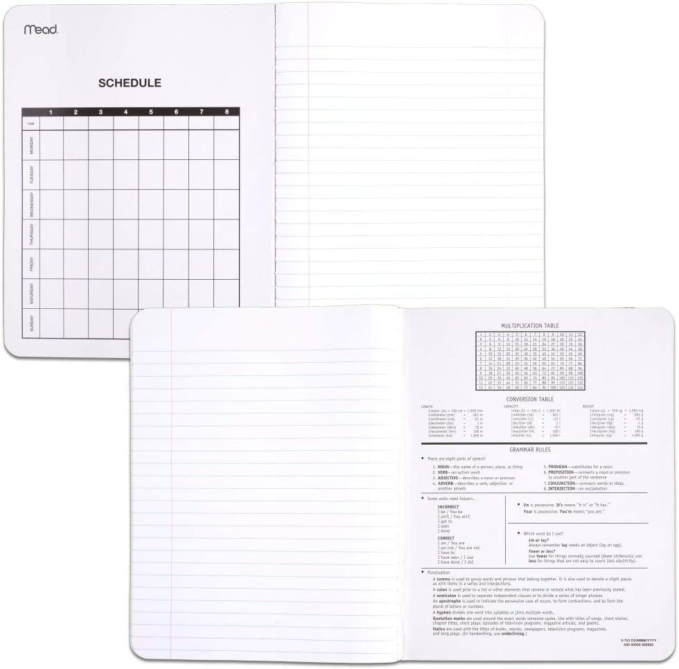 100 Sheets 12 Pack Mead Composition Books 72938 Comp Book Black Marble Notebooks College Ruled Paper