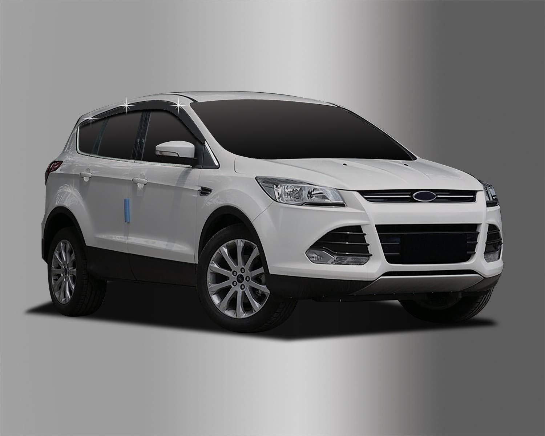 Autoclover pour Ford Kuga 2012 + Dé flecteurs d'air Lot de (6 piè ces) (Fumé )