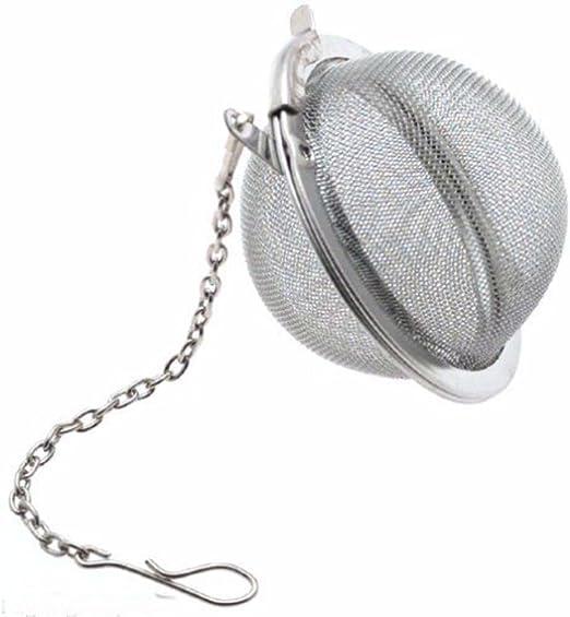 "Tea Infuser Ball Mesh Loose Leaf Herb Strainer Stainless Steel Secure Locking 2/"""