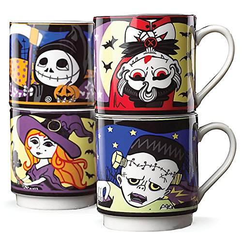 Halloween Character 4-pc Stackable Mug Set -