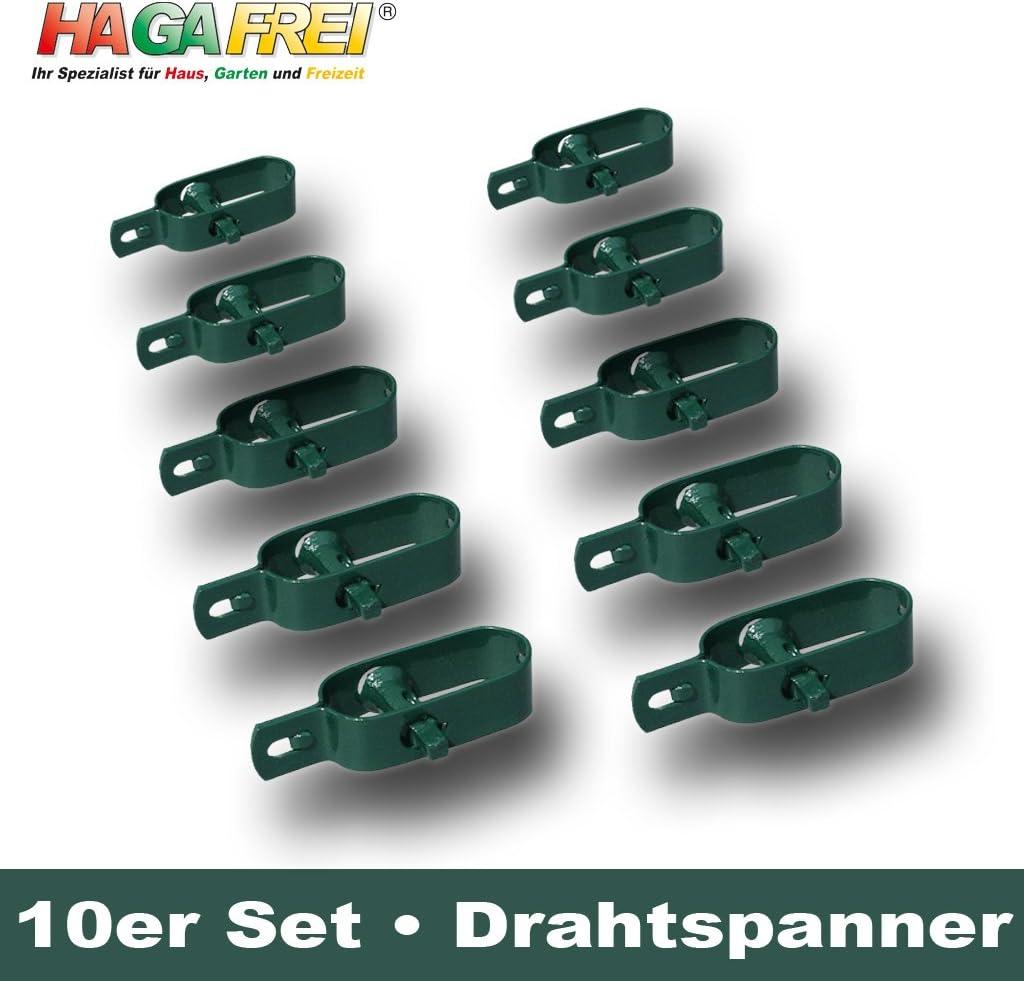 Drahtspanner Gr 3 gr/ün f/ür Spanndr/ähte bis /Ø 3,8mm 10er Set