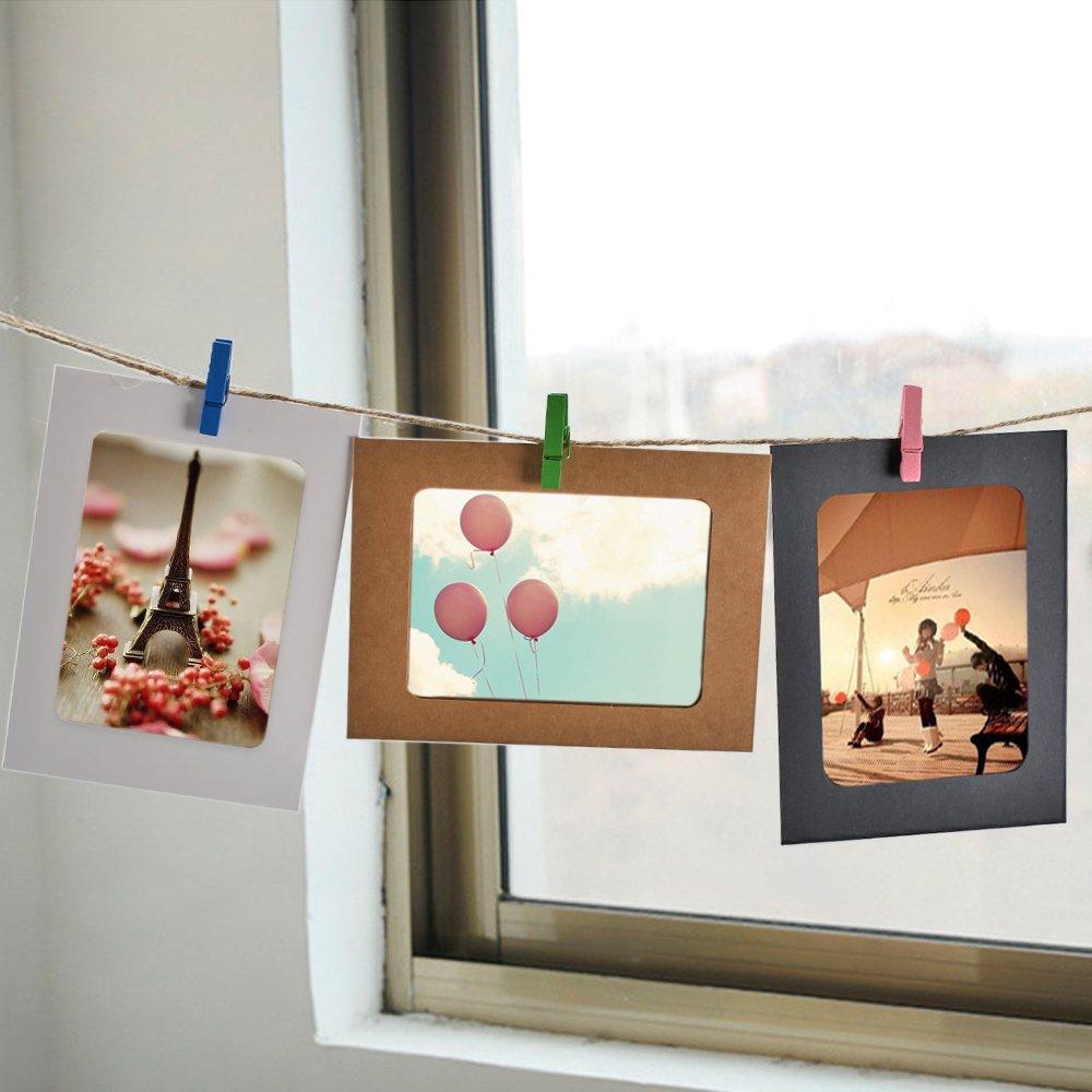 LULUNA Foto Clips 10 Stücke Aufhängender Bilderrahmen Collage ...