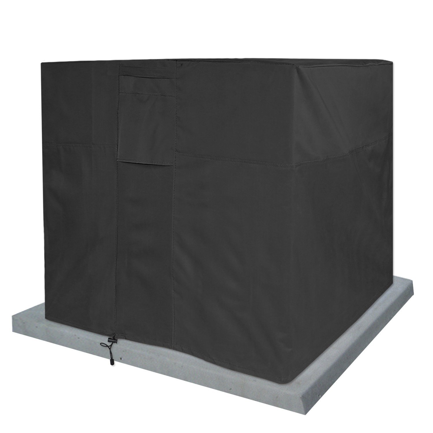 KHOMO Gear - Titan Series - Waterproof Heavy Duty Outdoor Air Conditioning Cover AC Protector - Black AC-Cover-Black