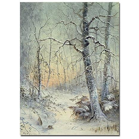 Winter Breakfast by Joseph Farquharson, 26x32-Inch Canvas Wall Art