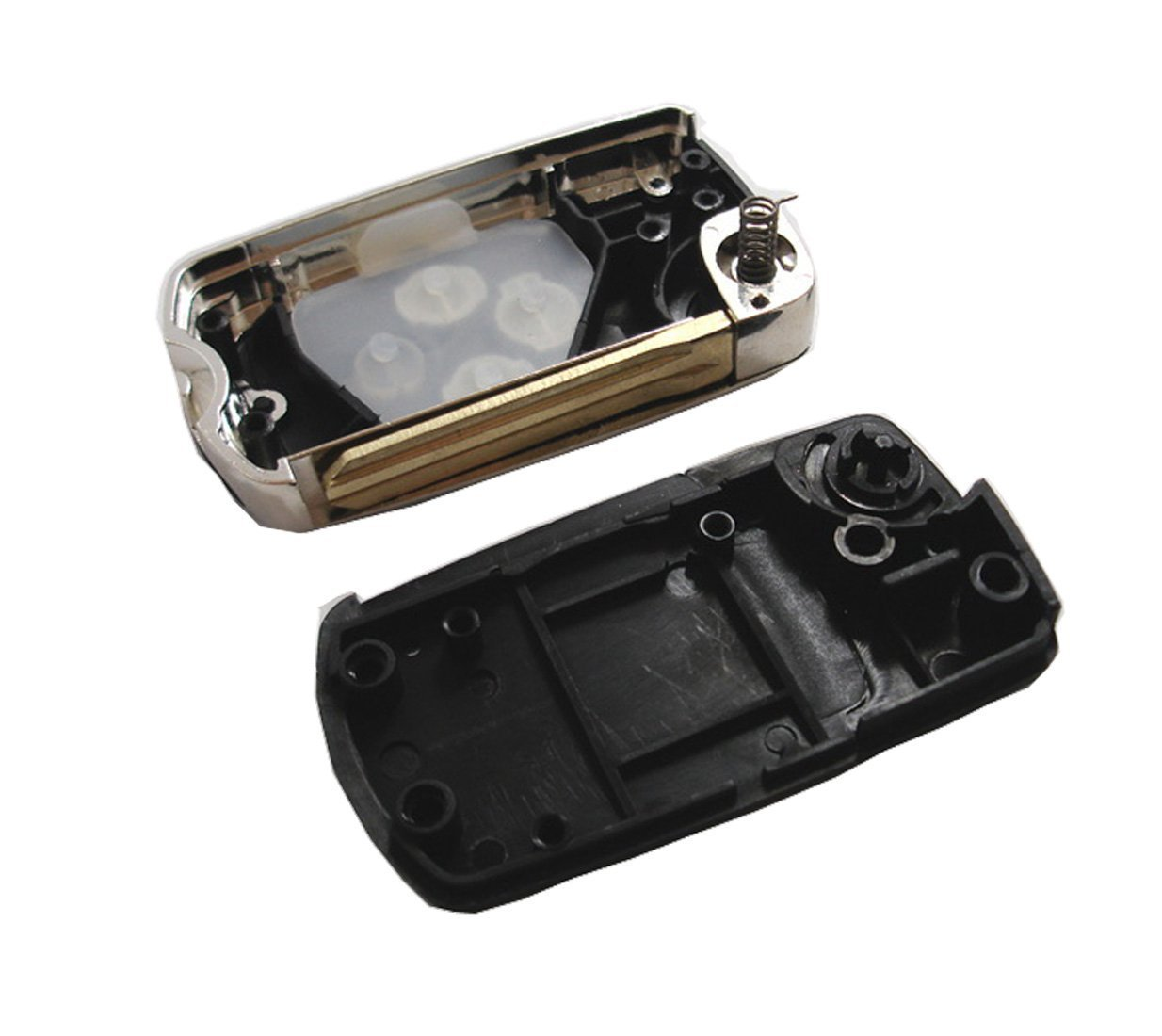 just a key shell TCKEY NEW Car Key Flip Keyless Entry Remote Key Shell Case for Toyota Rav4 Corolla Camry Matrix Scion Tc 3 Buttons