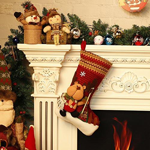 12 Days Deal Classic Christmas Stockings Burlap 18