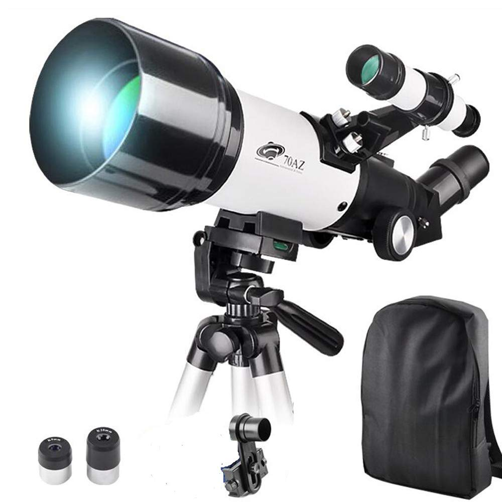 70x400mm Telescope for Kids and Beginners-70mm Apeture Travel Scope 400mm AZ Mount - Good Partner to View Moon and Planet - with Backpack and Smartphone Mount by LANDOVE