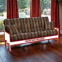 Memory Foam Futon Mattress Southwestern Upholstery Fabric Factory Direct F/Q (Queen, Choctaw)