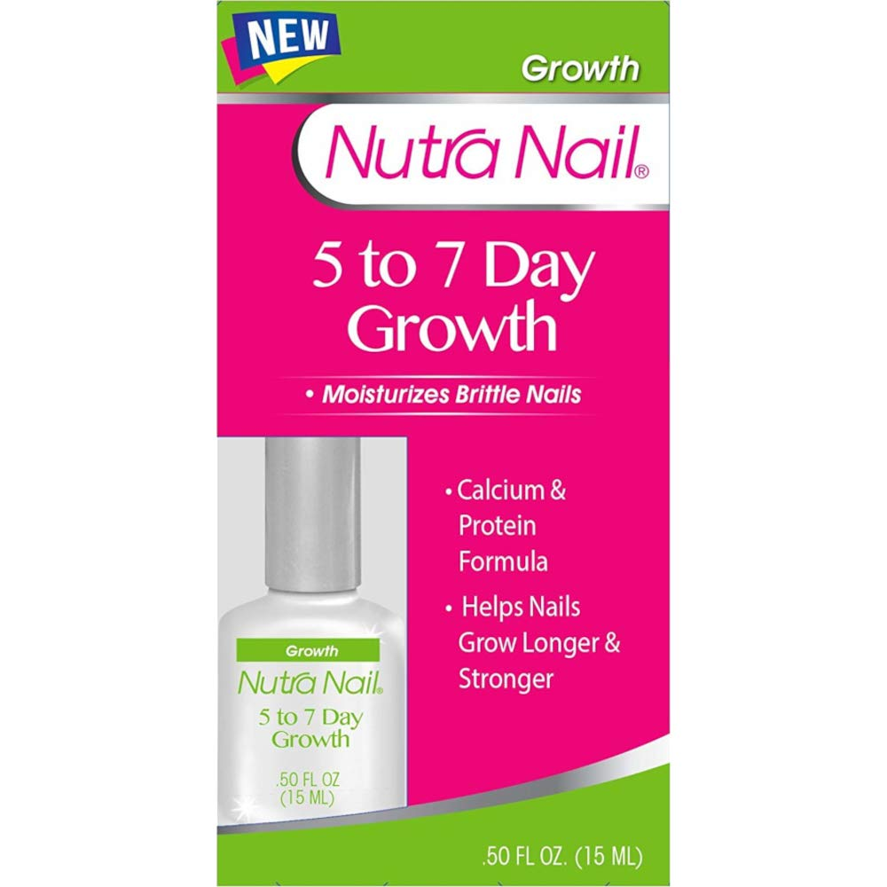 Nutra Nail 5 to 7 Day Growth Calcium and Protein, 0.50 Ounces by Nutra Nail