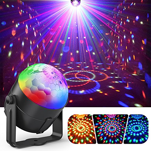 Party Lights, Gvoo Sound Activated DJ Disco Lights Rotating Ball Lights 5W...