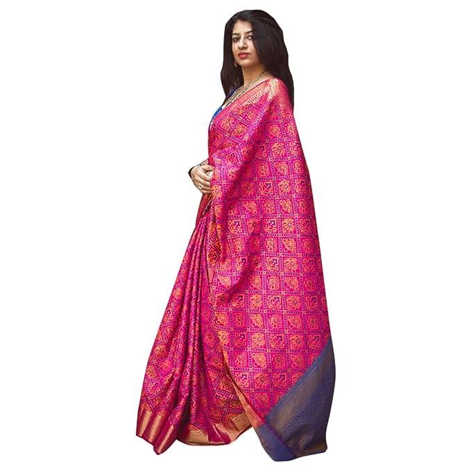Sari de Bollywood diseñador tradicional mujeres de seda étnica ...