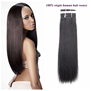 Amazon.com   HAIR WAY 100% Remy Human Hair Extensions for Black Women  18inches Straight Human Hair Weave Weft 110g  1   Beauty 3faab2b101