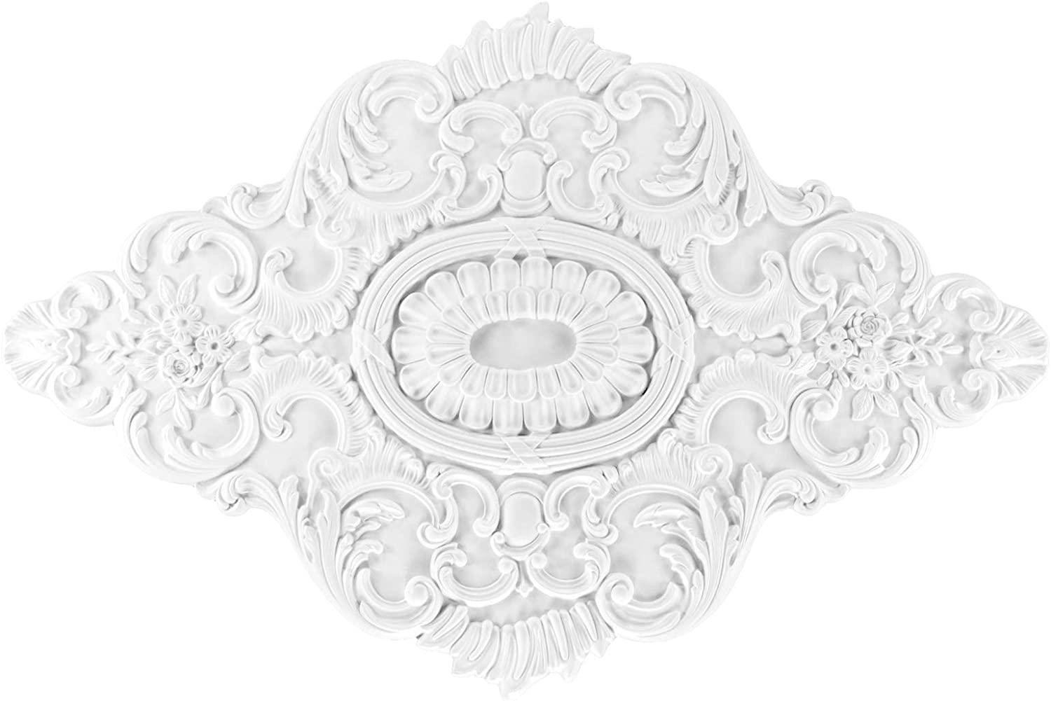 Grand Decor Dekor PU Stuck Decke R161 1080x730mm 1 Rosette
