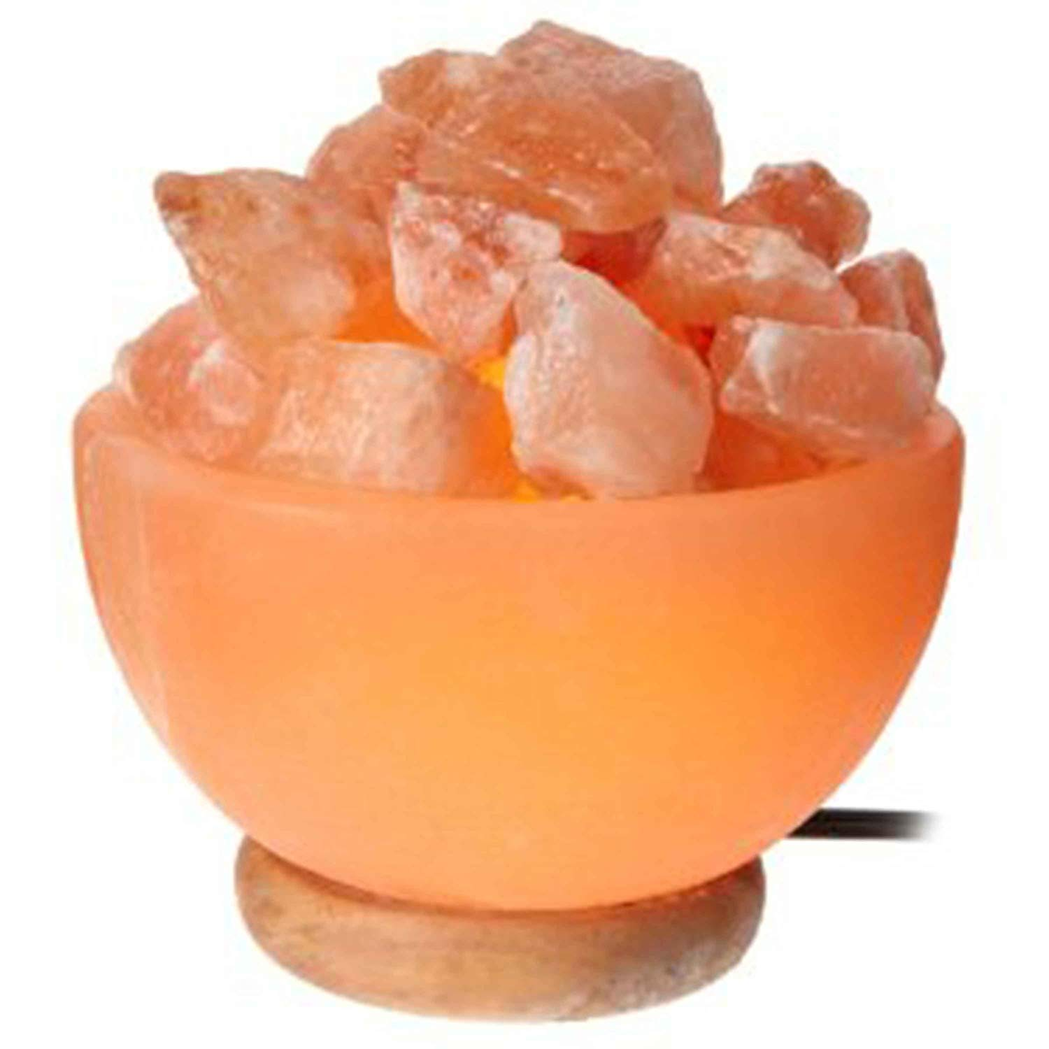 Natural Himalayan Salt Lamp Bowl Hand Crafted by Ambient Authentic Natural Crystal Salt Rock with UL Listed Dimmer Switch
