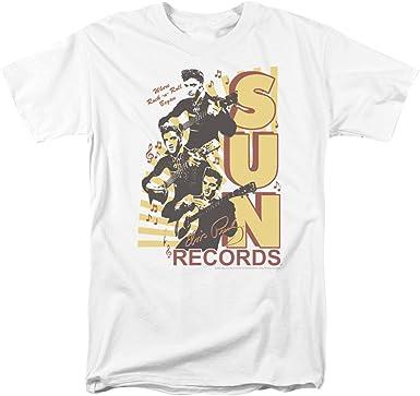 Sun Tri Elvis Mens Camisa Manga Corta (Blanco, XXX-Grande ...