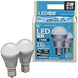 アイリスオーヤマ LED電球 口金直径17mm 25W形相当 昼白色 下方向タイプ 2個セット 密閉形器具対応 LDA4N-H-E17-V6×2