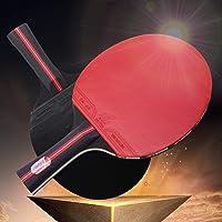 Jinxuny - Juego de Raqueta de Ping Pong Profesional con 3 Pelotas para Jugadores con Agarre Manual
