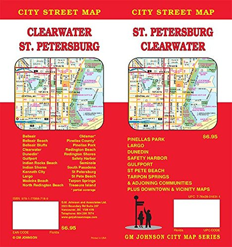 St. Petersburg / Clearwater, Florida Street Map ()