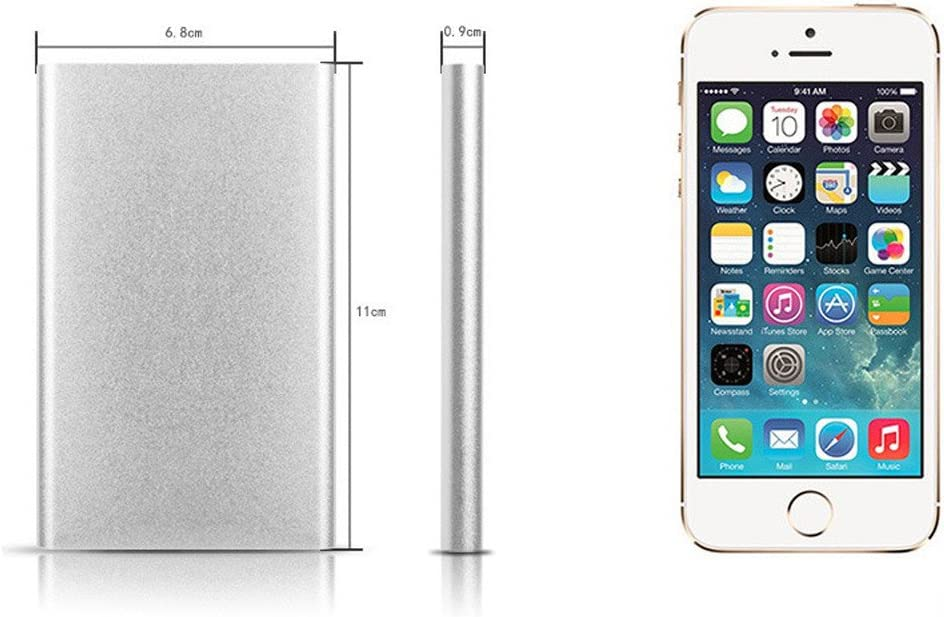 Charberry 2019 Portable 4000mAh Power Bank Case Box DIY Kit Circuit Board+Shell for Smartphone Silver