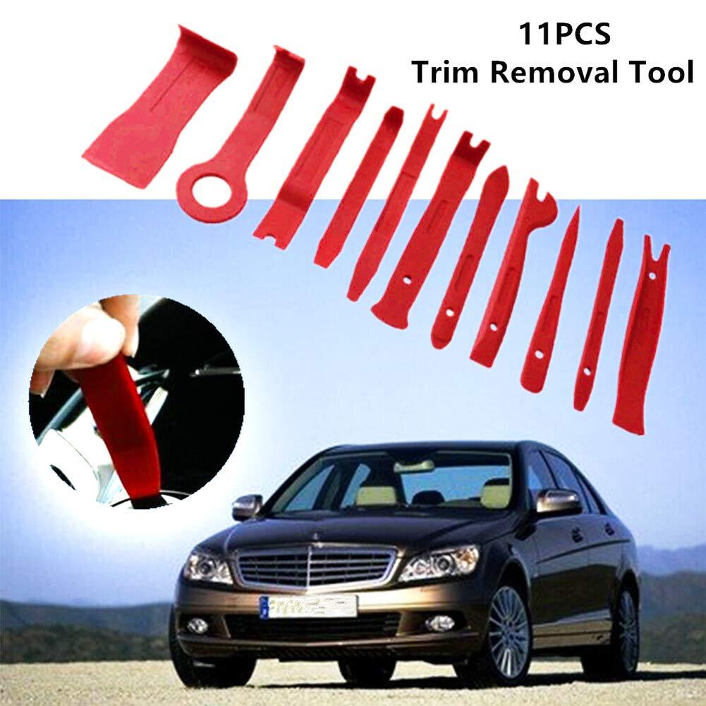 TBvechi Car Trim and Door Panel Removal Kit 11 Pcs Automobile Car SUV Carpet Mat Lining Trim Removal Tool Dash Door Handle Panel Removal Tool Kit