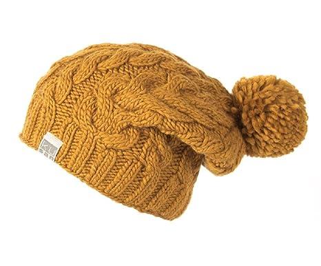 c72de183cea30c Kusan 100% Wool Cable Knit Bobble Beanie hat (PK1128/KU1501)  (Mens/Ladies/Unisex) (Yellow): Amazon.co.uk: Clothing