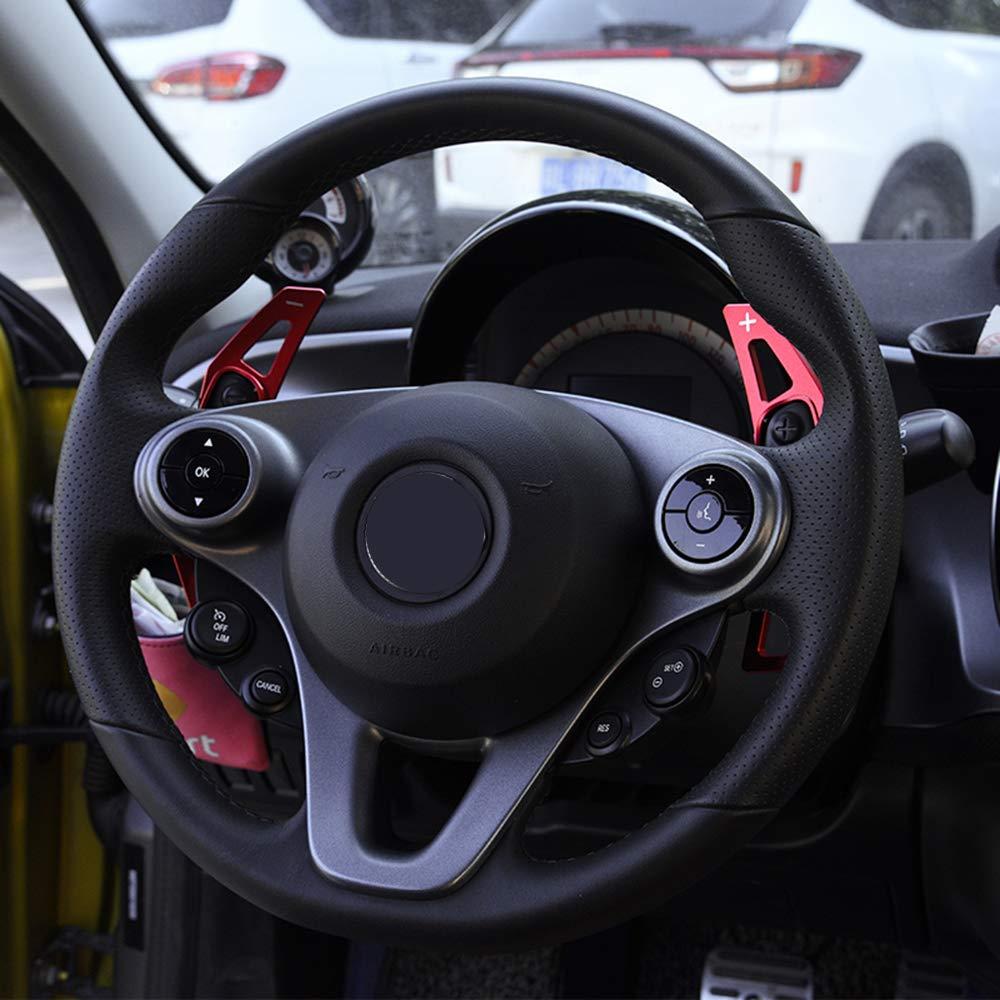 Piaobaige Per Benz Smart 451 453 fortwo forfour Paddle Cambio Volante in Lega di Alluminio Accessori per Lo Styling delle Auto